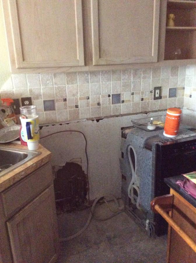 kitchen dishwasher side