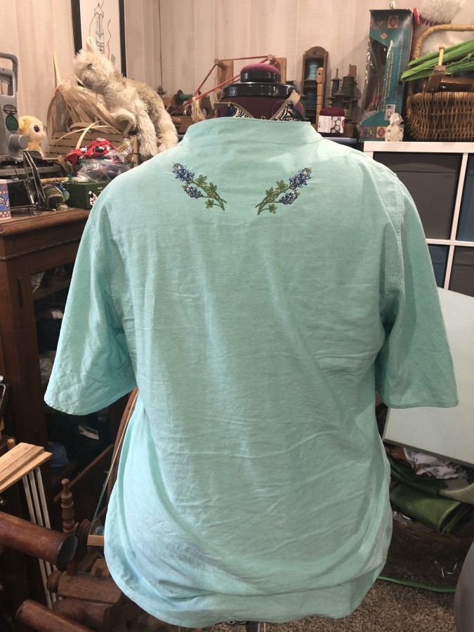 shirt breeze flower back
