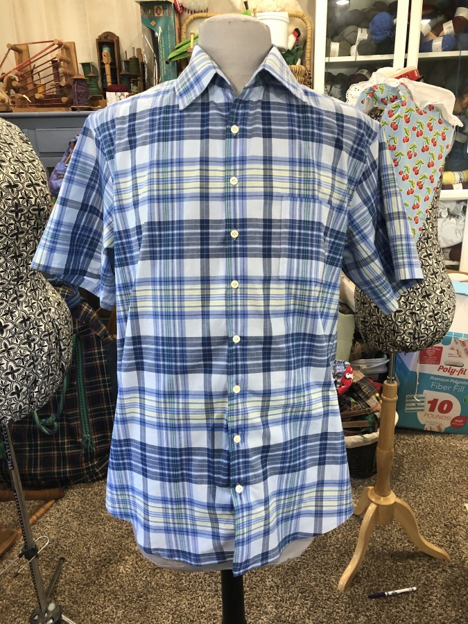shirt plaid front