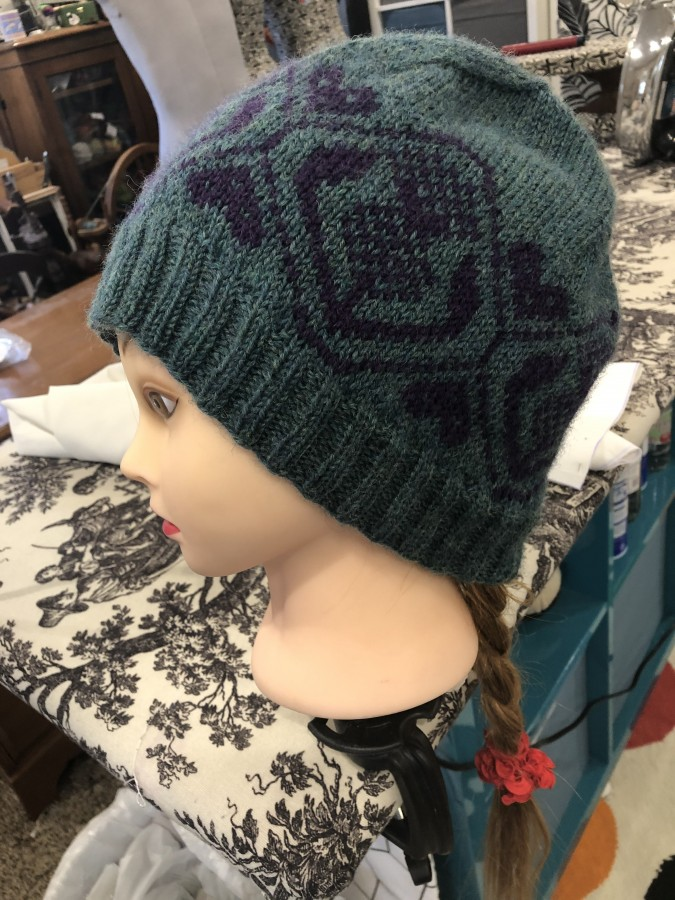thistle hat side