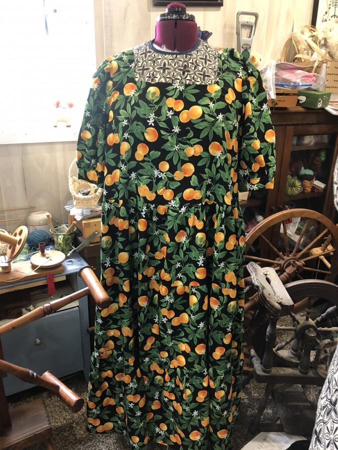 Clementine Orange dress front