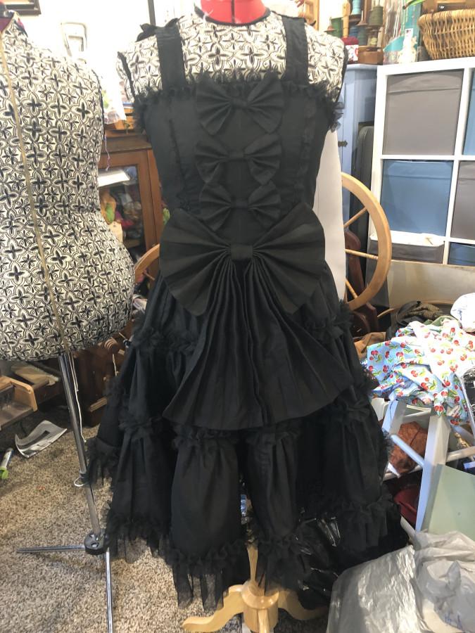 Black dress front