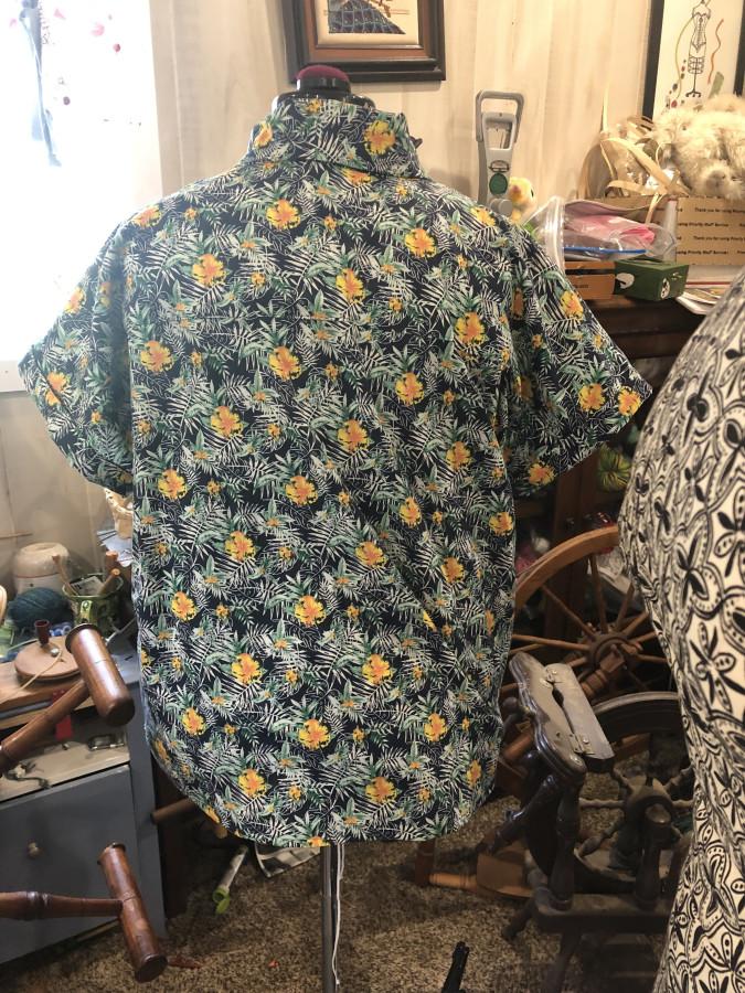 Hawaiian shirt back