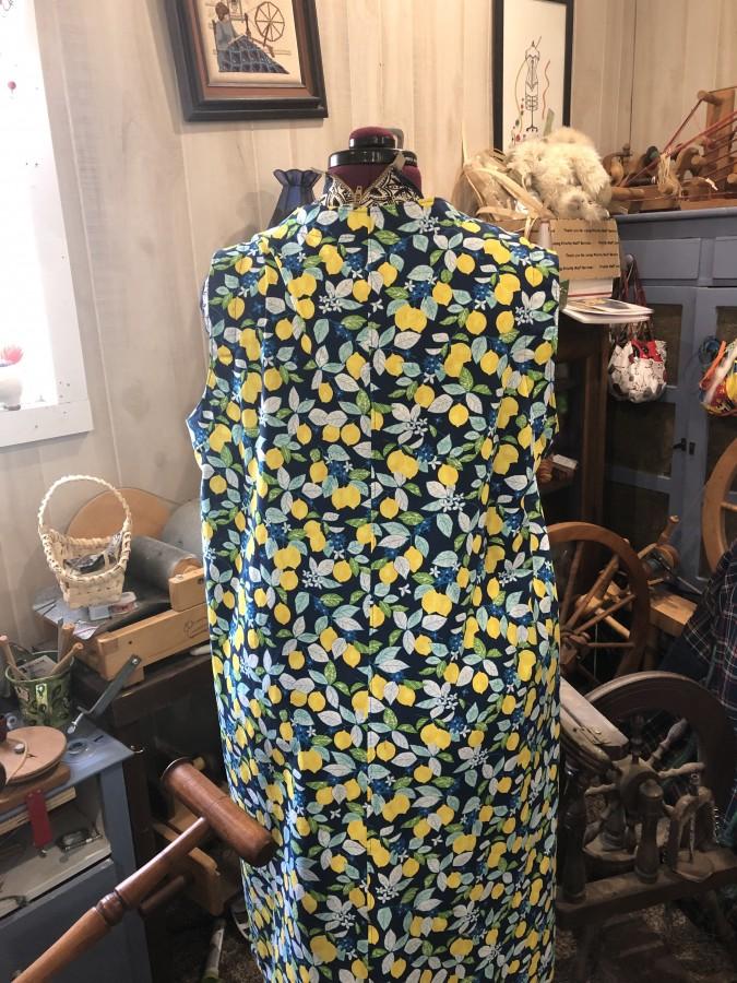 SA Vivienne lemon dress back