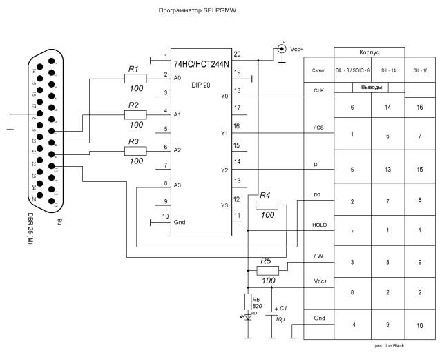 Программатор для SPI памяти
