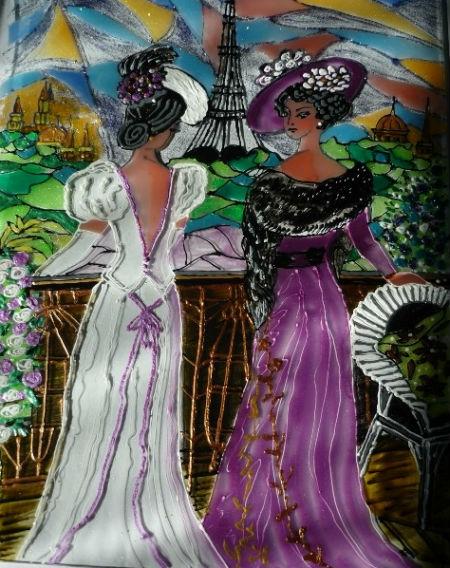 Дамы на балконе - Романтический Париж.jpg