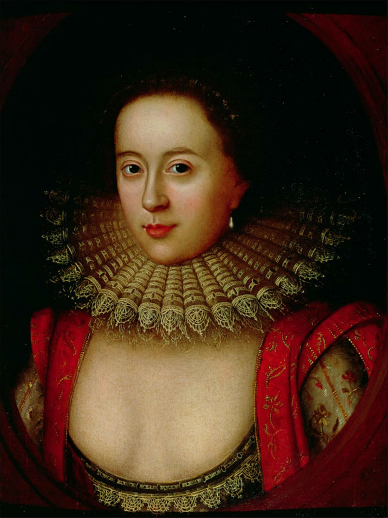Frances Carr née Howard Countess of Somerset later convicted of the murder of Sir Thomas Overbury in a famous scandal - 1615.jpg