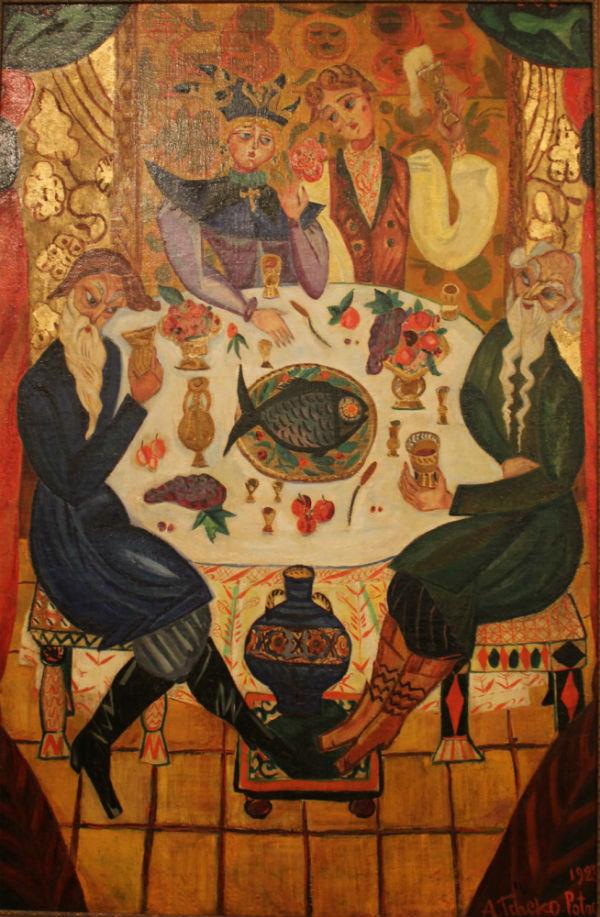 26-Щекатихина-Потоцкая - Сватовство - 1923 - Ивангородский художественный музей.jpg