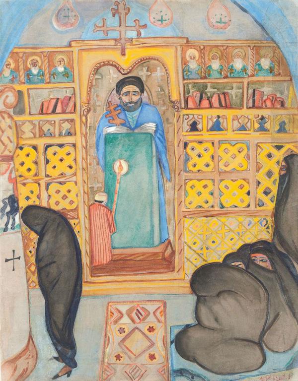 32-Щекатихина-Потоцкая - Коптская церковь в Каире - 1923.jpg