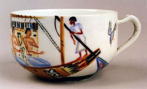 36-Чашка кофейная Египтяне в лодке - 1923 - ГРМ.jpg