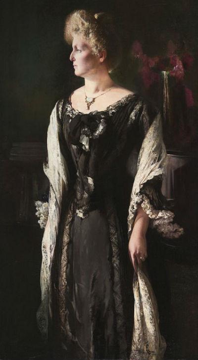 7-Firmin Baes - Портрет жены ювелира Софи Уиллштедтер с подвеской.jpg