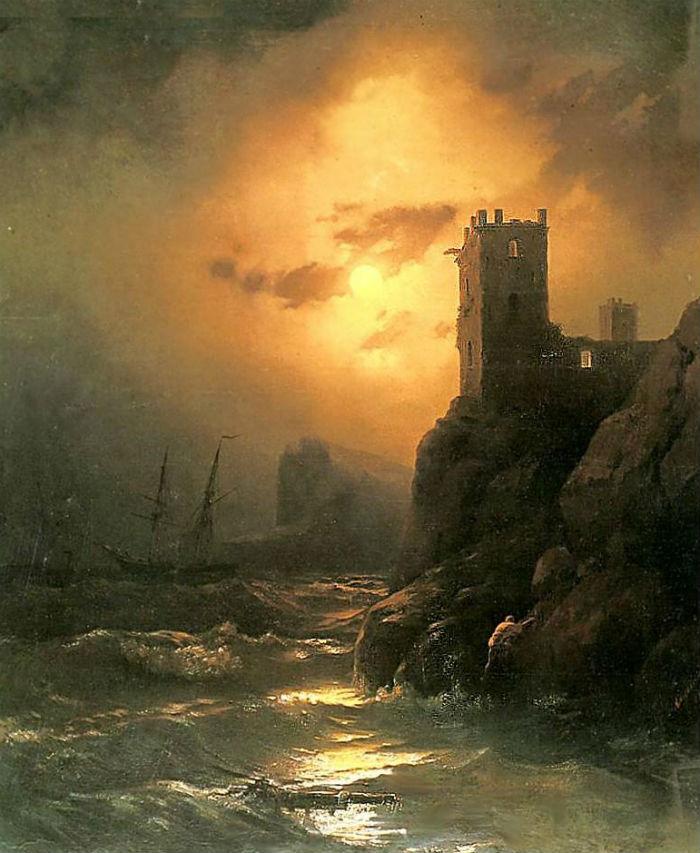 Иван Айвазовский - Башня Кораблекрушение - 1847.jpg