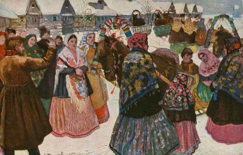 А.Н.Третьяков - В деревне. Смотрины молодых - 1873.jpg