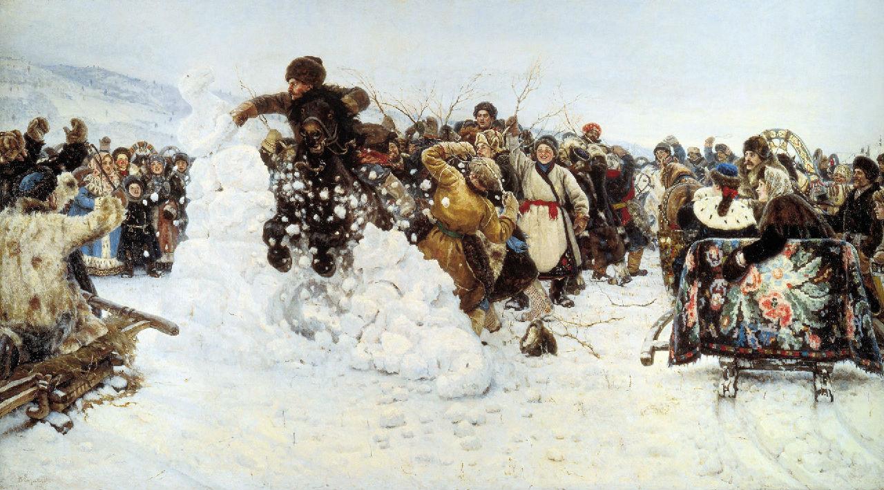 В. И. Суриков - Взятие снежного городка - 1891.jpg