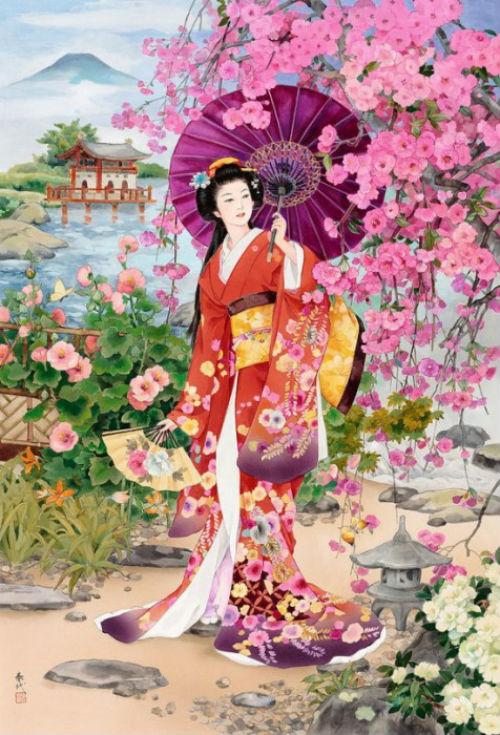 Знатная дама в цветущем саду.jpg