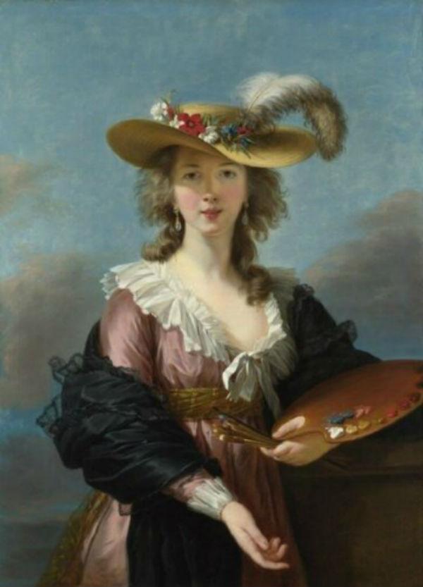 Элизабет Виже-Лебрен - Автопортретв соломенной шляпке - 1782.jpg