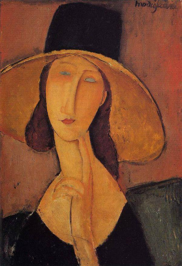 Модильяни - Портрет Жанны Эбютерн в большой шляпе.jpg