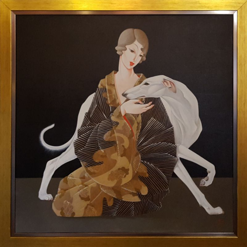 Уршуля Тэкели - Дама с собакой.jpg