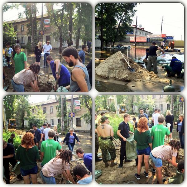 Необходима помощь в устранении последствий наводнения