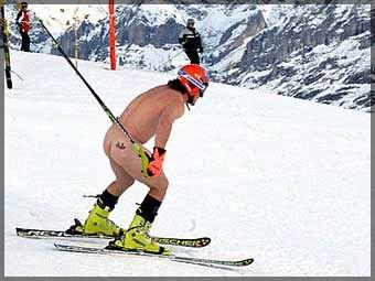 Голожопый горнолыжник