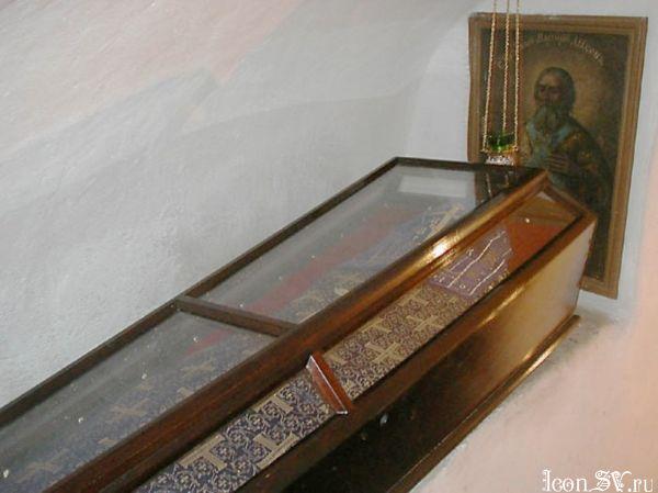 Преподобный Мартирий, диакон Печерский, в Дальних пещерах  мощи