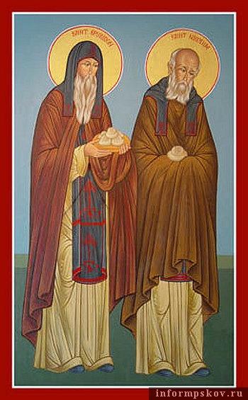 Преподобные Спиридон и Никодим , просфорники Печерские, в Ближних пещерах