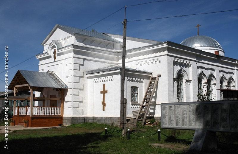 Крестовоздвиженская церковь в селе Серга Кунгурского района Пермского края