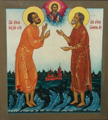 Икона святых блаженных Симона Юрьевецкого и Алексия Елнатского