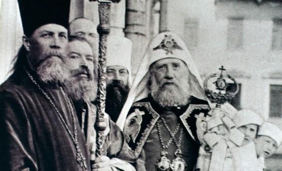 патриарх Тихон во время собора 1917 года, интронизация 21 ноября 1917 года