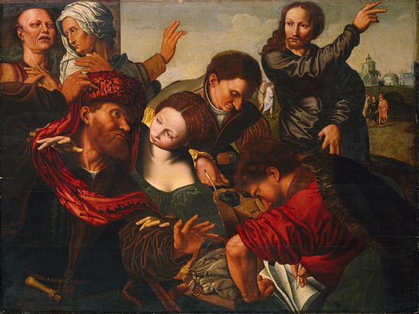 Призвание апостола Матфея, 1524 г. Ян Сандерс Ван Хемесен