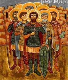 Мученик Гоброн, во святом Крещении Михаил, и с ним 133 воина