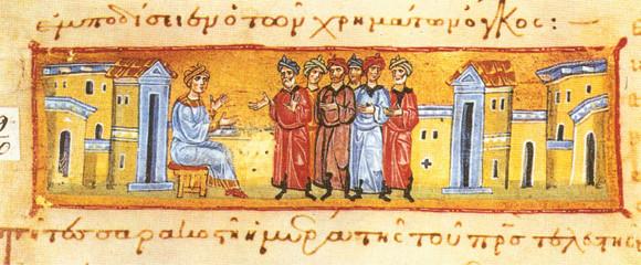 Иоасаф царевич объявляет народу о своем уходе, Греция, Афон, монастырь Иверон