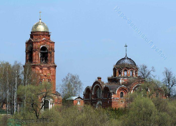 Церковь Рождества Христова - Рождество - Наро-Фоминский район - Московская область, восстанавливается