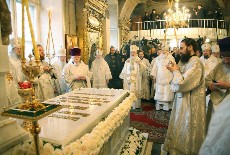 Патриарх Московский и всея Руси Алексий II  могила
