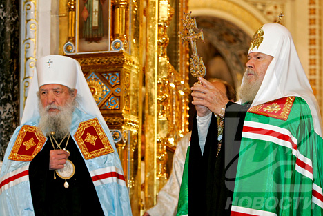 Первоиерарх Русской православной церкви за рубежом митрополит Лавр и патриарх Московский и всея Руси Алексий II