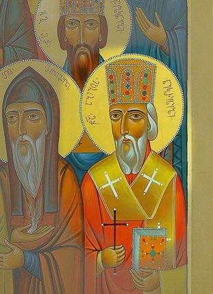 Або Некреский. На иконах он распознается по епископской митре и кресту, который символизирует мученичество