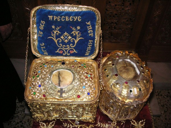 агиа лавра честные главы святых Алексия человека Божия и  Филарета Милостивого