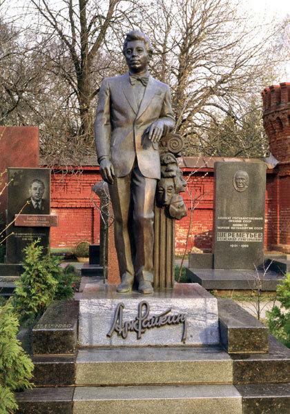 Могила Райкина Аркадия на Новодевичьем кладбище, Москва