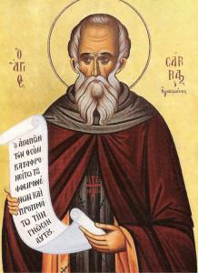Преподобный Савва Освященный, игумен