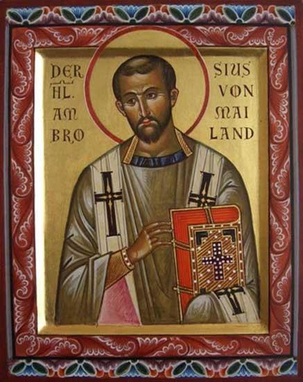 Святитель Амвросий Медиоланский, епископ