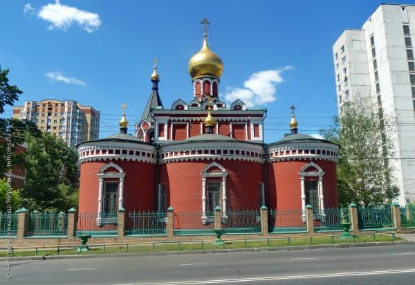 Храм иконы Божией Матери Нечаянная радость в Марьиной роще в Москве
