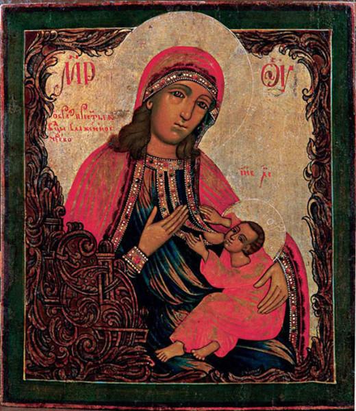 Икона Богородицы Барловская (Блаженное Чрево)