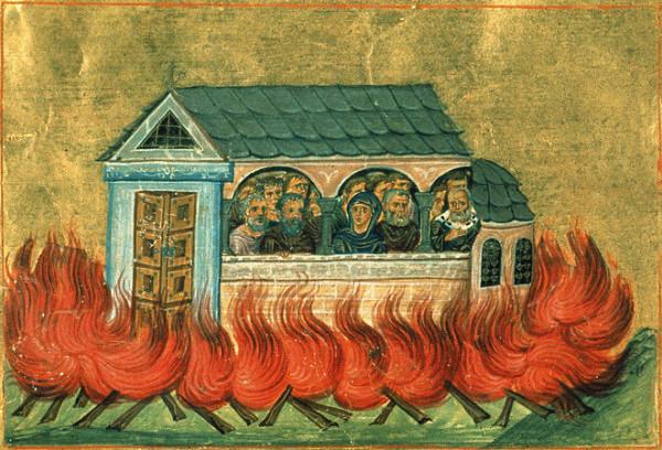 Мученики 20 000, в Никомидии в церкви сожженные