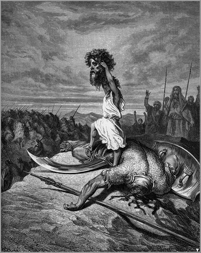Давид с головой Голиафа (Гюстав Доре)