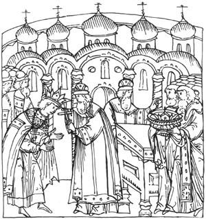 митрополит макарий благословляет иоанна грозного