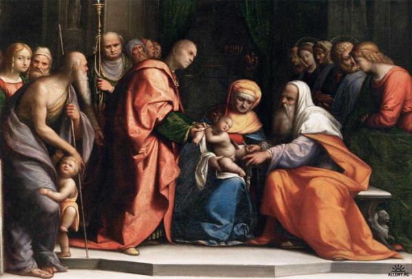 Обрезание Господне Бенвенуто Тизи (Гарофало) 1519