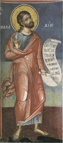 Пророк Малахия,  Роспись кафоликона мон-ря прп. Дионисия на Афоне