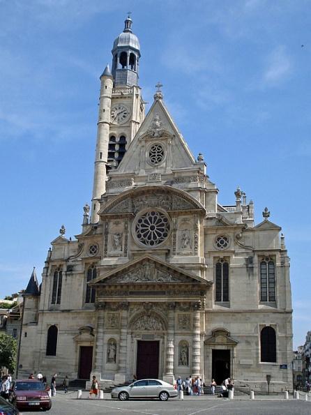 Церковь святого Стефана на горе (Église Saint-Étienne-du-Mont) расположена в 5 округе Парижа на горе Сент-Женевьев