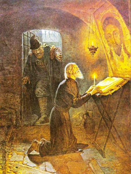 Николай Неврев, Малюта Скуратов и митрополит Филипп