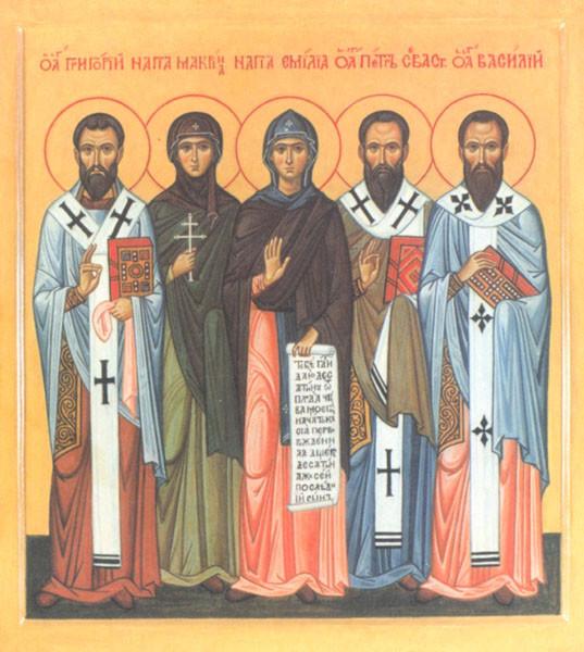 святая Омилия со святыми детьми...справа от нее святитель Петр Севастийский, епископ
